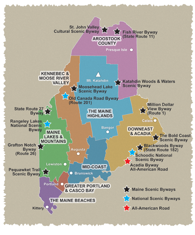 Explore Maine Explore Maine Scenic Byways – Portland Maine Tourist Attractions Map